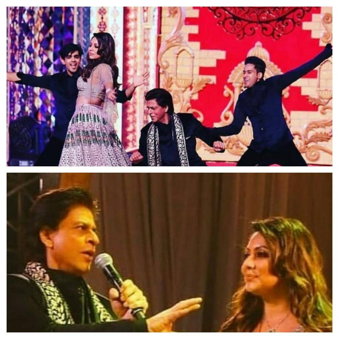 Shah Rukh Khan & Wife Gauri Khan's Mesmerizing Performance At Isha Ambani's Sangeet !!