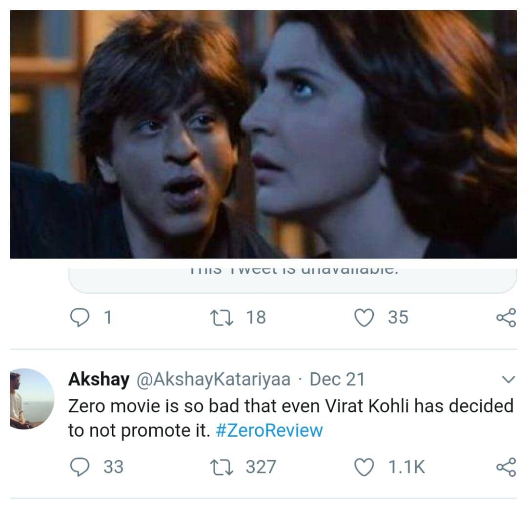 SRK'S Zero Being Roasted On Twitter With Some Funny & Realistic Reviews !!