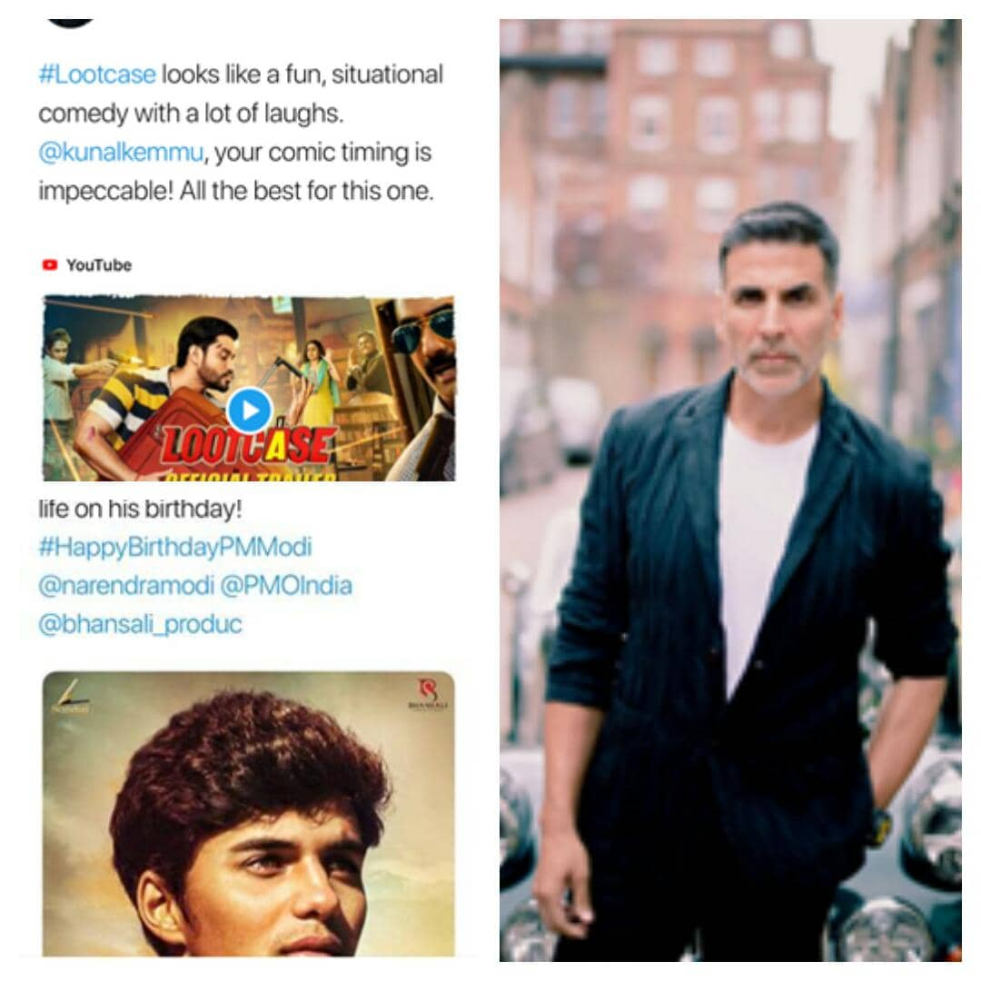 Superstar Akshay Kumar promotes three movies in a row!!!