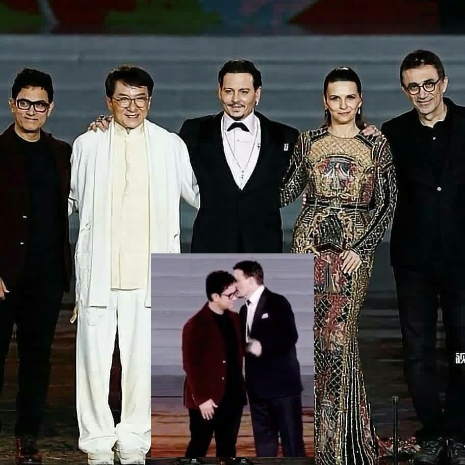 Johnny Depp Whispering Into Aamir Khan's Ears We Wonder What Can It Be ?