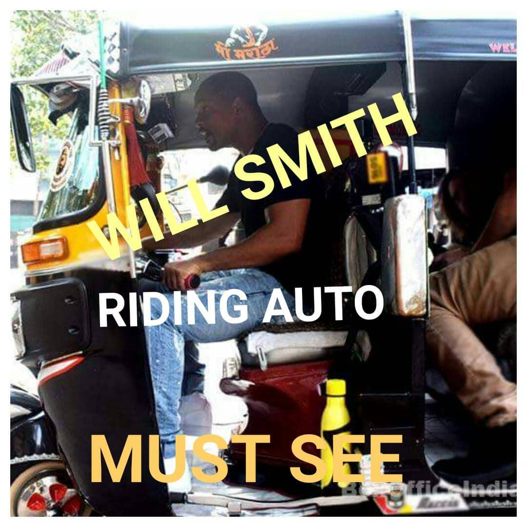 Hollywood Actor 'Will Smith' Riding An Auto In India Will Make Your Day !!