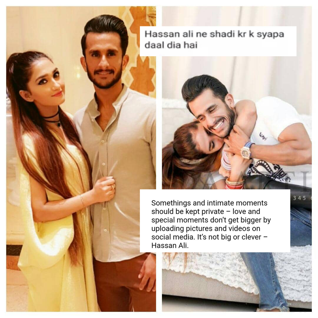 Cricketer Hassan Ali Gets Trolled for his photographs with wife Samiya Ali !!