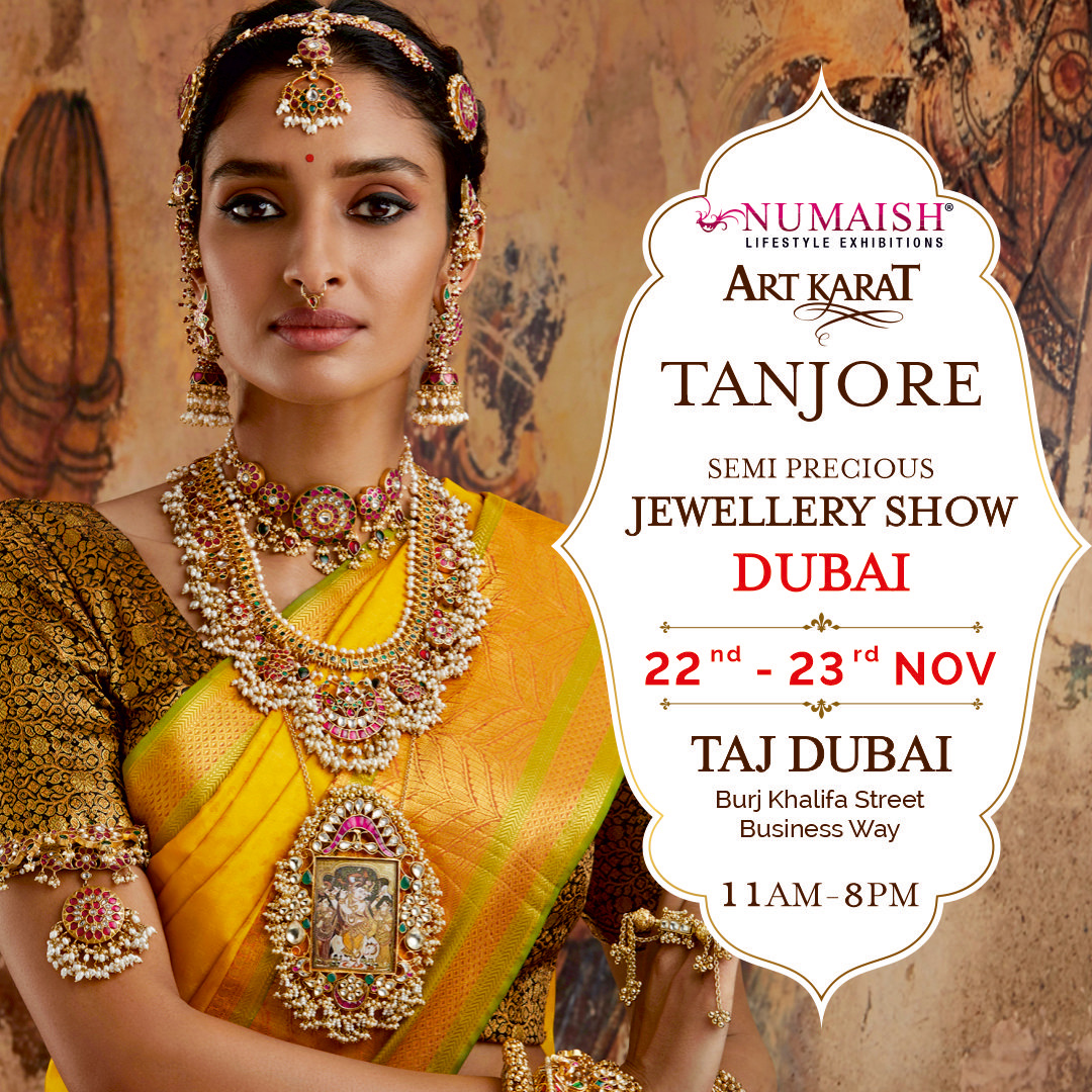 NUMAISH Exhibition will Showcase The Art Karat's Collection 'Tanjore 'By Famous Designer Asha Kamal Modi In Dubai!!