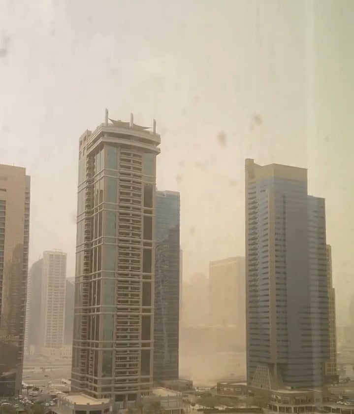 Sandstorm hits all over UAE Today!!
