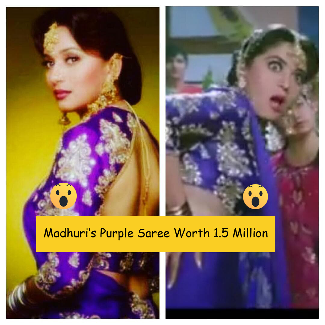 Hum aapke hai kaun.. Did you know Madhuri dixit's Popular purple sari cost 1.5 Million ??