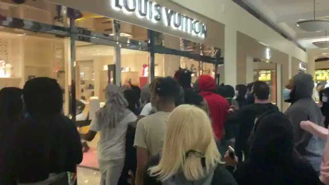 Watch Video!! Protesters Loot Luxury Store Louis Vuitton Bags In Portland!!!