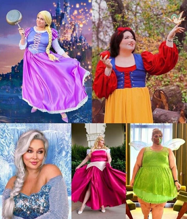'Plus-Size Princess Project' Aims To Prove That Disney Princesses Come In All Sizes!!