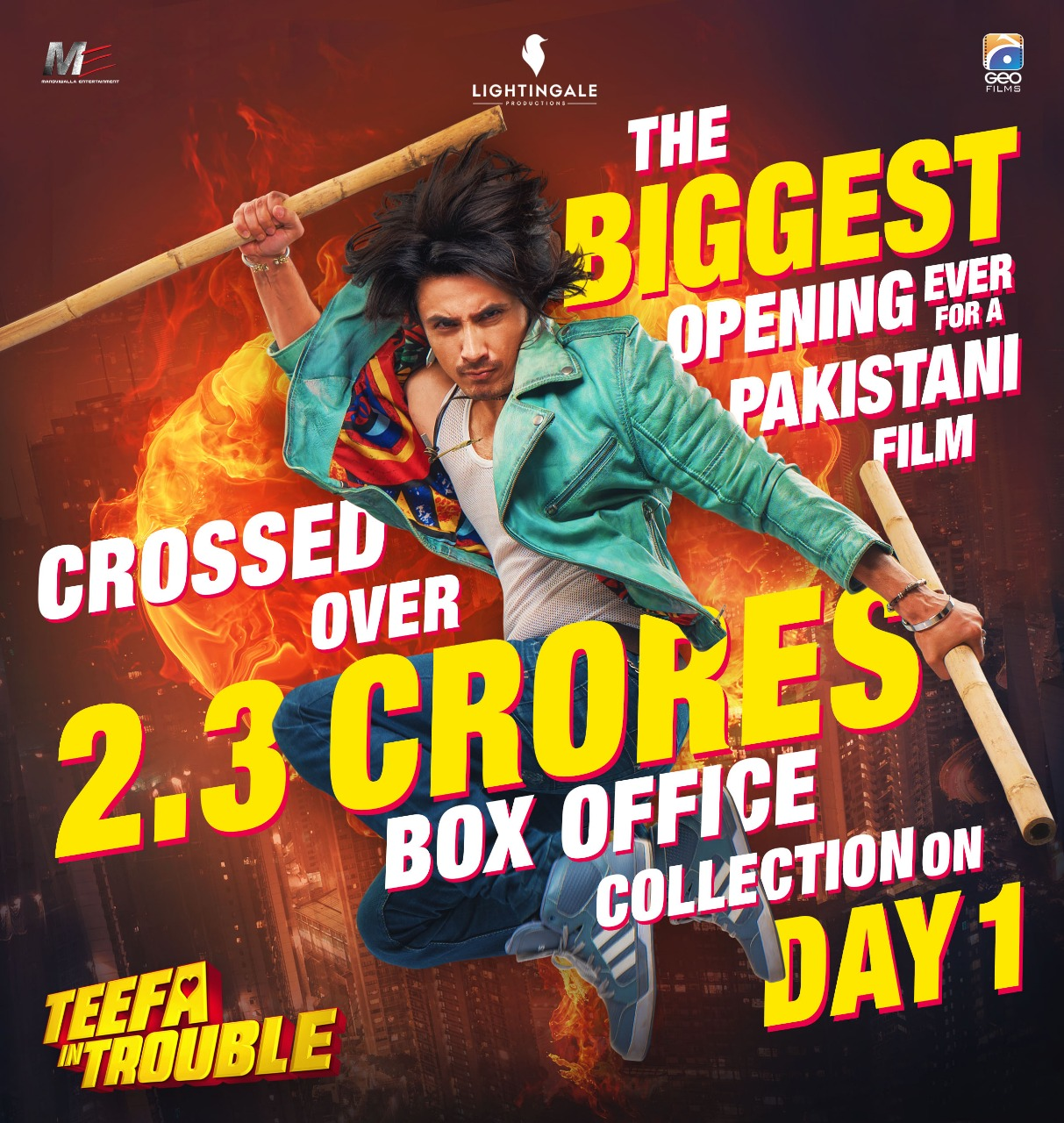 Teefa In Trouble Ruling The Box Office With The Year's Highest Opening In Pakistan !!