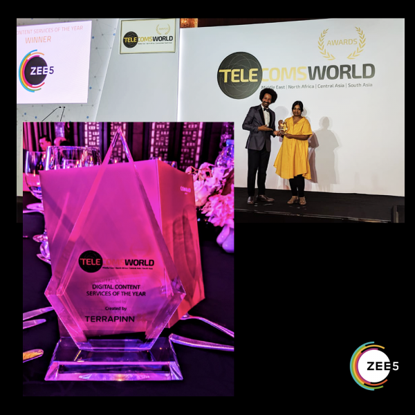 ZEE5 Wins 'Digital Content and Streaming Service of the Year' at the 2020 Telecoms World Middle East Awards !!!
