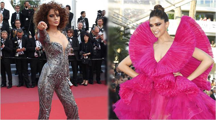 Aishwarya Rai Bachchan, Deepika Padukone & Kangana Ranaut shine at the red carpet Of Cannes 2018 !!