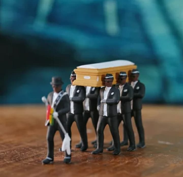 You Can Now Get The Famous Ghana Meme Dancing Pallbearers !!!