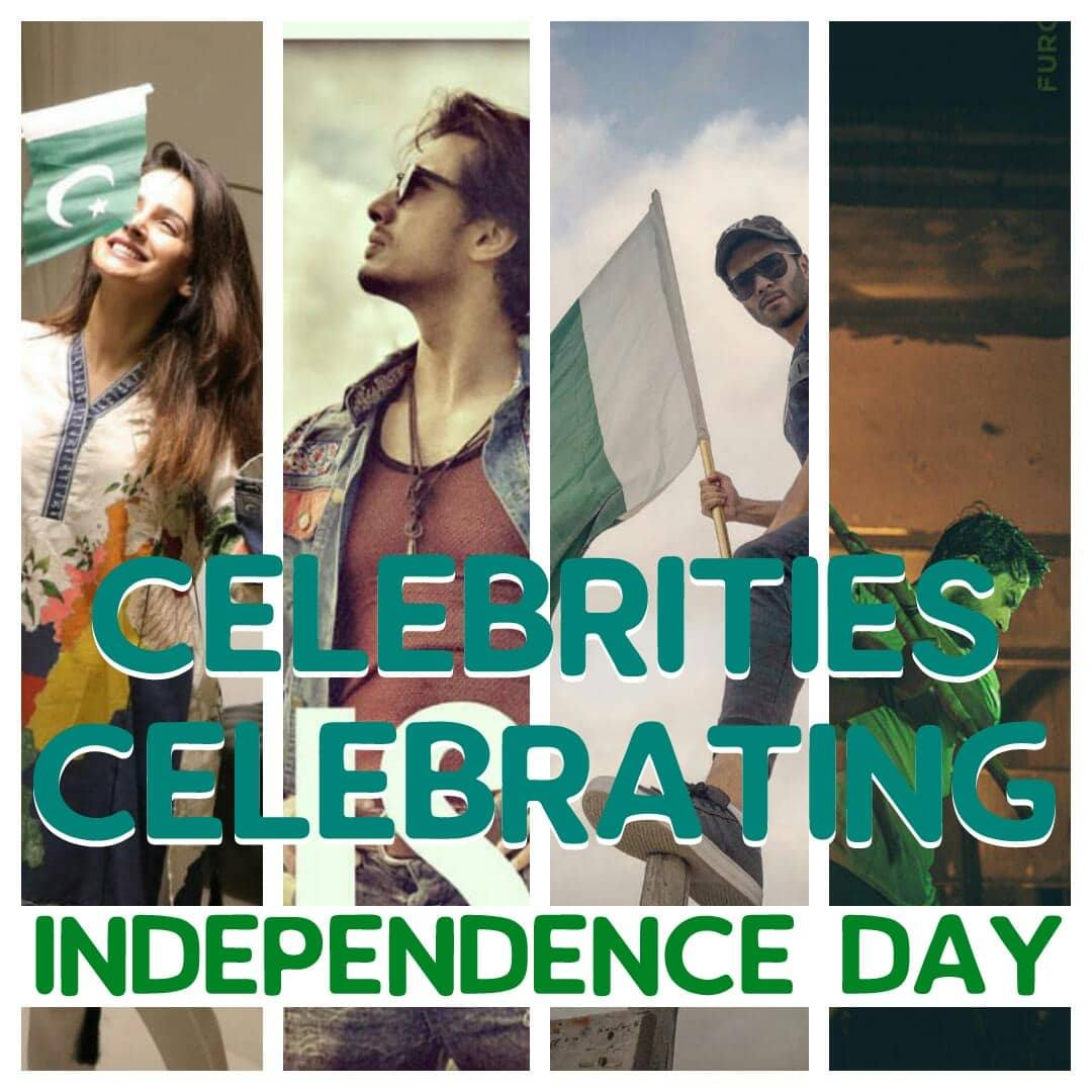 Pakistani Celebrities Celebrate Independence Day With Zeal !!