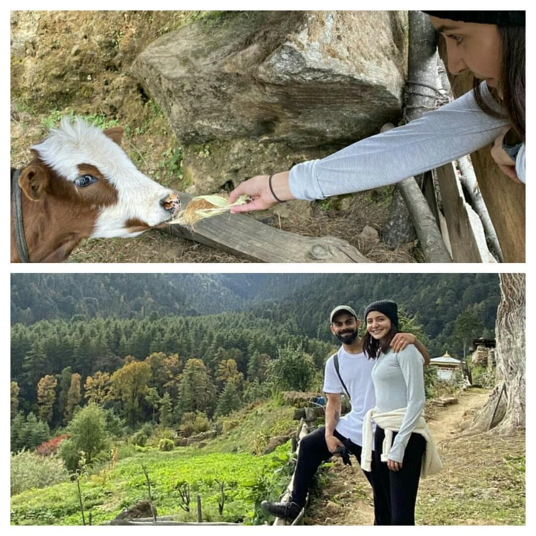 Anushka Sharma Celebrates Hubby Virat Kohli Birthday goes Trekking In Bhutan!! Checkout The Pics!!