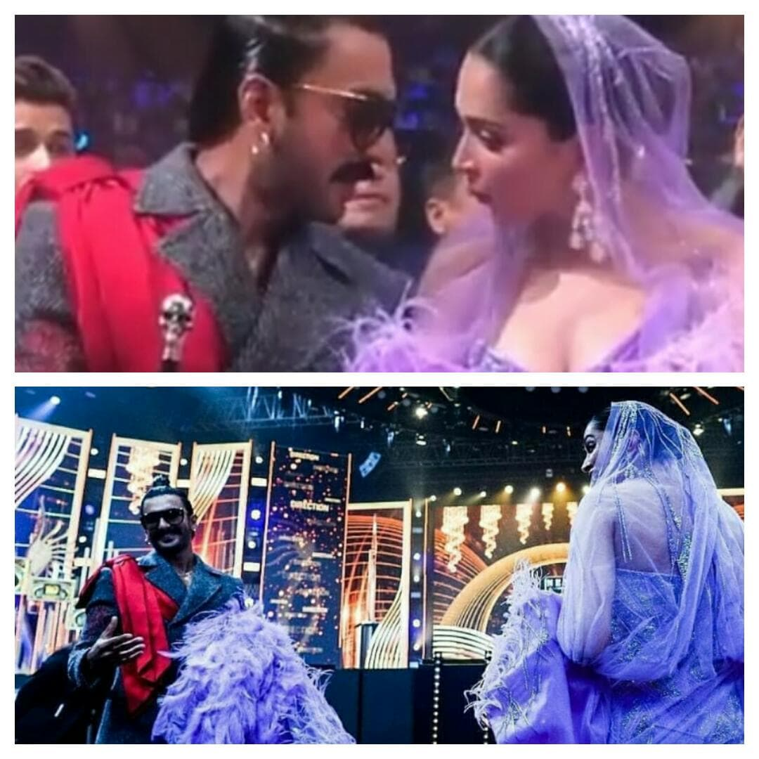 Not to be missed!! Deepika & Ranveer cute moments at The IIFA Awards!!