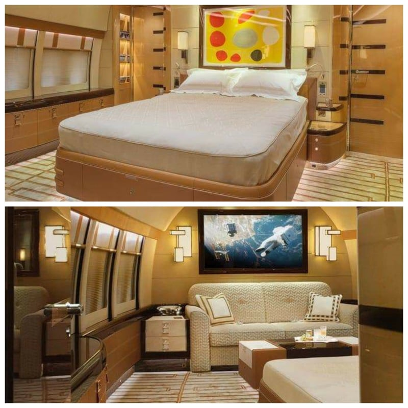 See The Interior Pics!! Of The world's largest private jet A Boeing 747 !!!