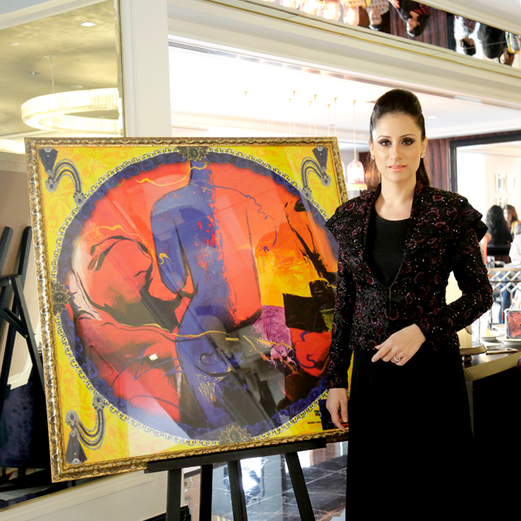 Rouble Nagi's Art Scarves in Dubai